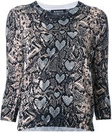 Markus Lupfer snakeskin print blouse - women - Cotton - XS