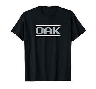 Oakland Football Classic Video Game Font OAK T-Shirt