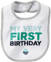 "Carter's Baby Boy My Very First Birthday"" Bib"