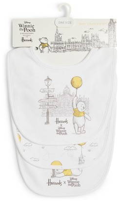 Harrods Winnie the Pooh Balloon Bib (Set of 3)