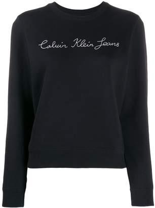 Calvin Klein Jeans embroidered script logo sweatshirt