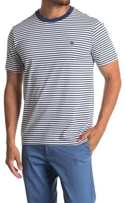 Original Penguin Feeder Knit Stripe Print T-Shirt
