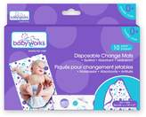 Babyworks Baby Works Disposable Change Mats 10 Count Value Pack