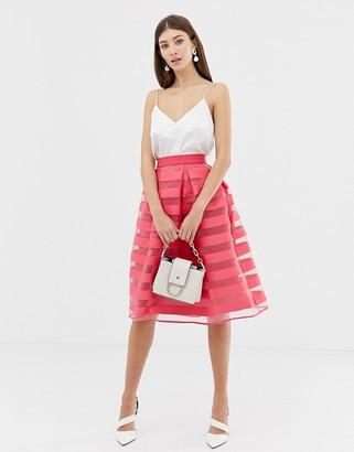 Closet London Closet Stripe Pleat Full Skirt