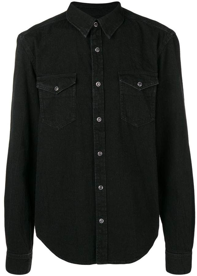 Givenchy chest pocket denim shirt