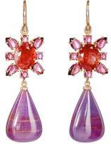 Irene Neuwirth Women's Mixed-Gemstone Double-Drop Earrings-BLUE