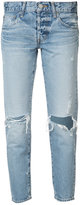 Moussy distressed cropped jeans - women - Cotton - 26