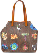 Etro large printed tote - women - Leather - One Size