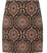 Dorothy Perkins Womens Black Paisley Print Mini Skirt