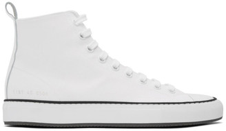 Common Projects White Canvas Tournament High-Top Sneakers