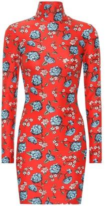 Vetements Floral printed minidress