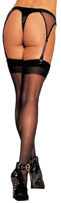 Shirley of Hollywood Sheer Back Seam Stockings