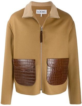 Loewe crocodile effect details jacket