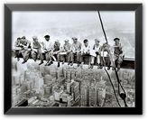 "Art.com Lunch Atop a Skyscraper"" Framed Art Print by Charles C. Ebbets"