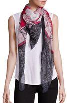 Alexander McQueen Ouiji Board Silk & Modal Shawl