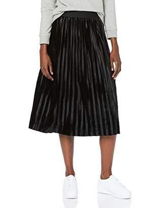 Urban Classic Women's Ladies Velvet Plisse Skirt,14 (Size: )