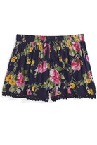 Girl's Zoe And Rose Floral Print Shorts