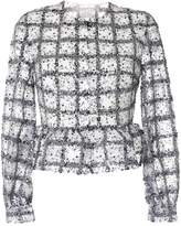 Huishan Zhang Isla sequined ruffled-hem jacket