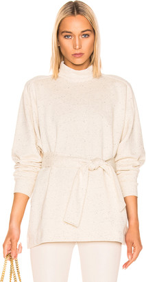 Amo Remain REMAIN Long Sleeve High Neck Top in Cream | FWRD