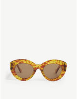 Loewe LW40019I oval-frame sunglasses