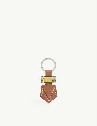 Moreau Paris Logo-print leather keyring
