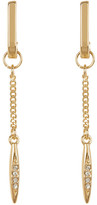 BCBGeneration Crystal Detail Chain Drop Earrings