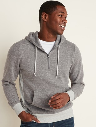 Old Navy 1/4-Zip Rib-Knit Side-Panel Hoodie for Men
