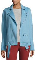 Theory Tralsmin New Divide Oversize Moto Jacket, Melange Gray