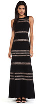 BCBGMAXAZRIA Sleeveless Striped Gown