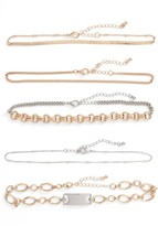 Leith Women's 5-Pack Mixed Metal Chokers