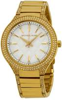 Michael Kors Kerry White Crystal Dial Crystal-Set Steel Ladies Watch