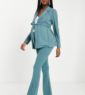 ASOS DEISGN Maternity jersey over the bump slim kickflare suit trouser i sage