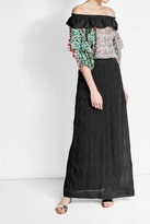 M Missoni Knit Maxi Skirt with Cotton