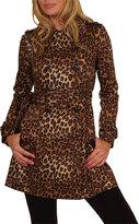 Leopard Sateen Coat