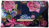 Jessica McClintock Riley Floral Velvet Envelope Clutch Clutch Handbags