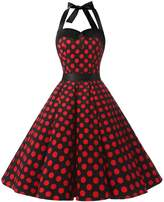 Dressystar Vintage Polka Dot Retro Cocktail Prom Dresses 50's 60's Rockabilly Bandage XL