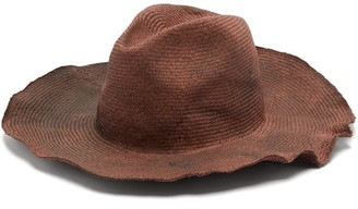 Bonica Reinhard Plank Hats Cotton-straw Hat - Womens - Burgundy Multi
