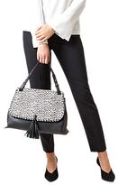 Hobbs Highgate Shoulder Bag, Black/White