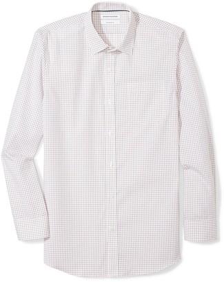 Amazon Essentials Men's Slim-Fit Wrinkle-Resistant Long-Sleeve Dress Shirt