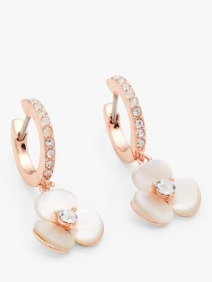 Kate Spade Flower Charm Hoop Earrings, Rose Gold