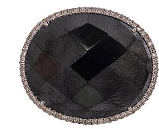 Meira T 14K Gold 0.42 Ct. Tw. Diamond & Hematite Ring