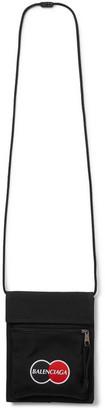 Balenciaga Logo-Appliqued Canvas Messenger Bag