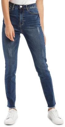 Missguided Sinner High-Waisted Clean Jeans