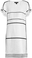 Burberry Contrast-trim scoop-neck dress