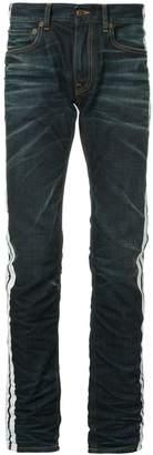 Ports V side stripe straight leg jeans