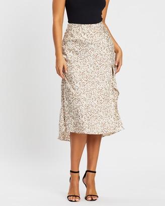 Atmos & Here Sash Midi Button Skirt