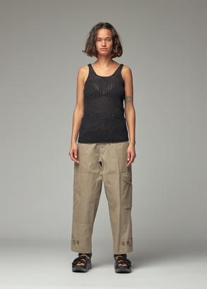 Y's by Yohji Yamamoto Women's Adele Crochet Tank Top in Black Size 2