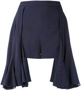 Chalayan mini flared shorts - women - Spandex/Elastane/Cupro/Viscose - 40