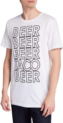 Chaser Men's BEER TACO BEER Cotton Crewneck T-Shirt