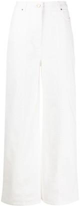 Aalto Stitch Detail Wide-Leg Jeans